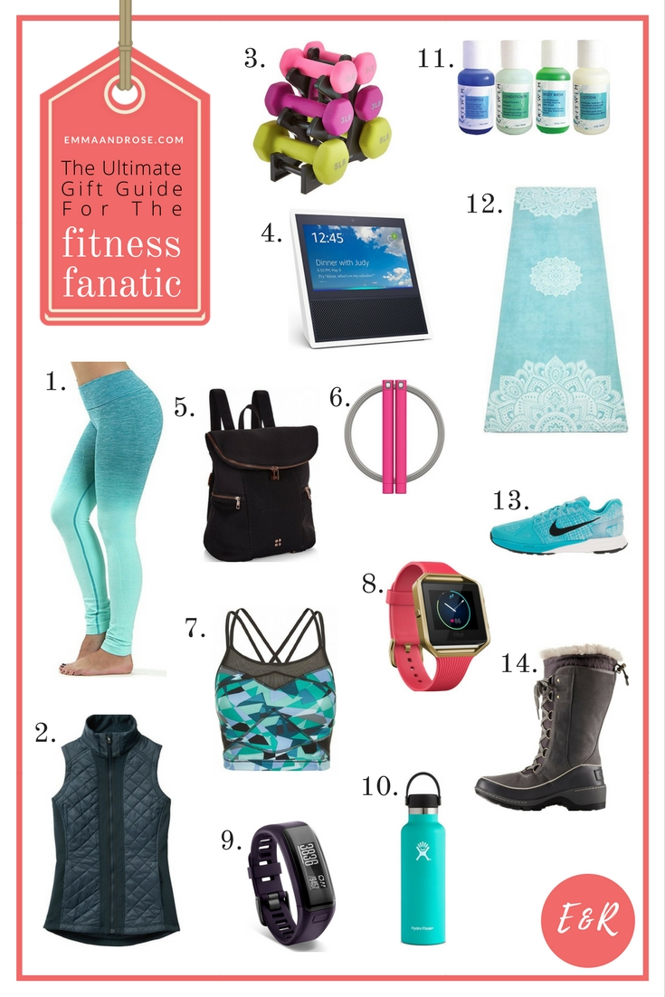 The best gift guide for fitness fanatics: barre, bootcamp, CrossFit, home workouts & pilates. Birthdays, Mother's Day, Valentine's Day, holidays, and more. Looking for the perfect gift for your fellow workout junkies? You're in luck. I've spent countless hours putting together the ultimate gift guide for fitness fanatics just for you. These gift ideas are great for birthdays, Christmas, Mother's Day, Valentine's Day, other holidays, or any other time. #fitness